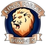 Kings Forest Bowmen Logo with Roaring Lion